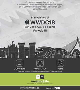 Meetmobile Apple WWDC18 4 de junio 2018
